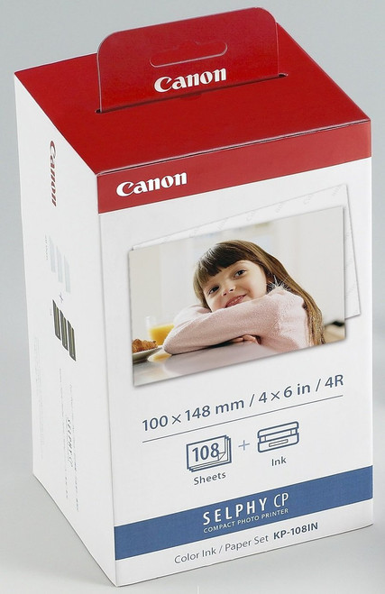 """Canon KP-108IN 4X6"""" 108Sh And Ink Set"""