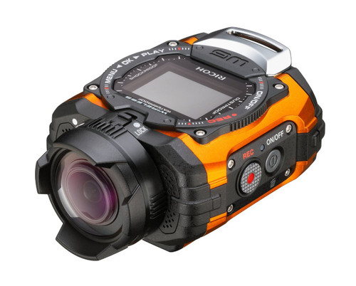 Ricoh WG-M1 Orange Waterproof Action Video Camera with 1.5-Inch LCD (Orange)