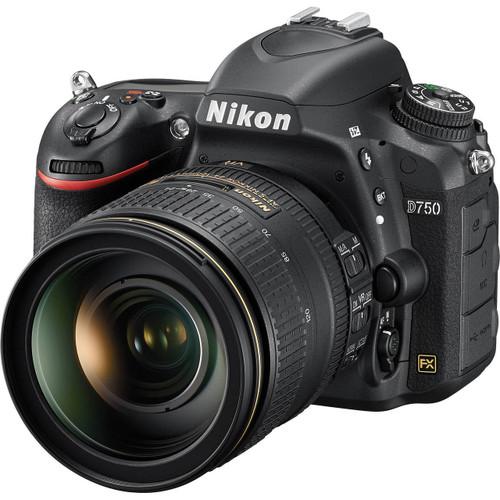 Nikon D750 FX DSLR Camera w/ 24-120mm f/4G ED VR AF-S Lens (ACE48049)