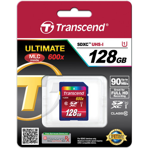 Transcend 128GB SDXC Ultimate Class 10 UHS-1 Memory Card