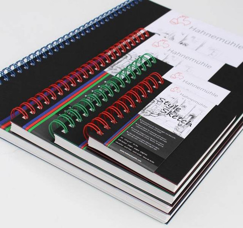 Hahnemuhle Style Sketch Book (A4 Size, 64 Sheets, Blue Spiral)