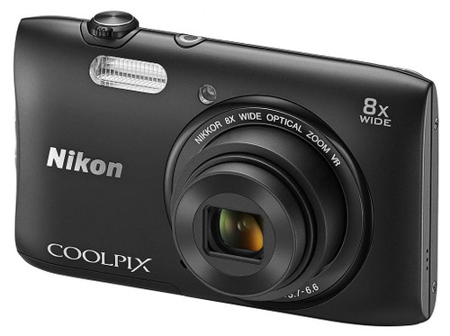 Nikon COOLPIX S3600 20.1 MP Digital Camera with 8x Zoom NIKKOR Lens and 720p HD Video (Black)