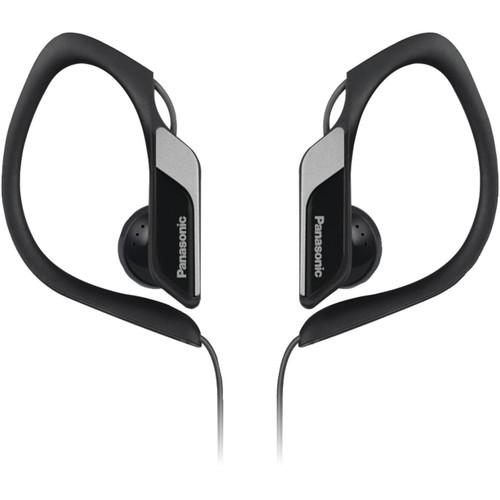 Panasonic HS34 Water- and Sweat-Resistant Sports Earbud Headphones (Black)