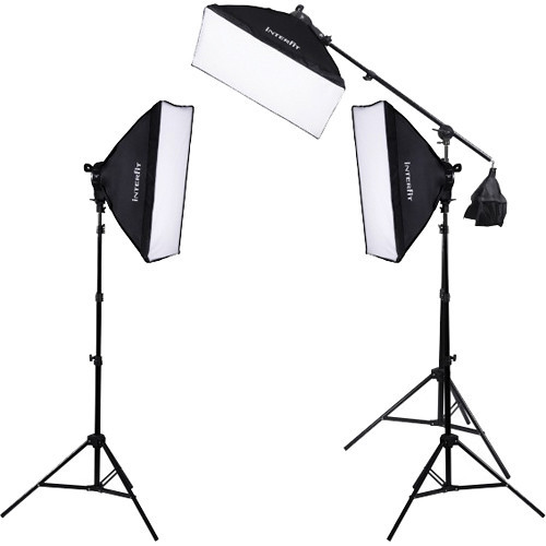 Interfit F5 Spotlight, 3 Head Kit W/ Boom Arm