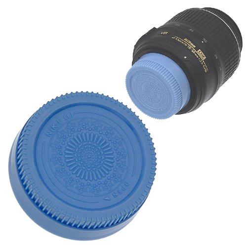 Fotodiox Designer Rear Lens Cap for Nikon F, Blue