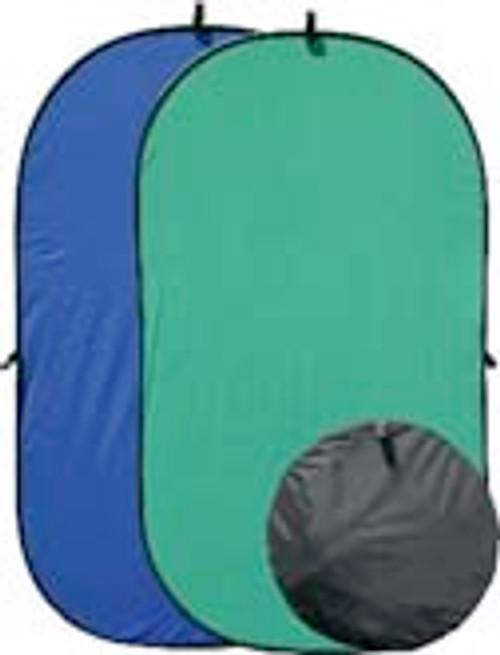 RPS 46X84 Twist-Fold Backdrop Blue/Green