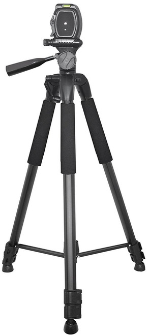 Xit XT57TRB Elite Series 57-Inch 4 Leg Section Tripod with Foam Grips, Carrying Handle,
