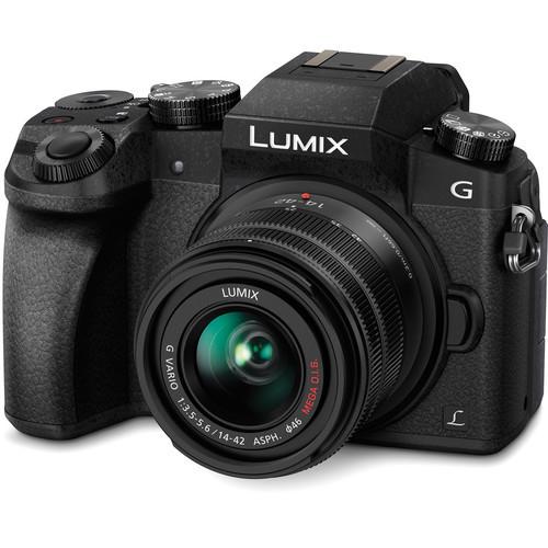 PANASONIC Lumix DMC-G7KK Kit w/ 14-42mm Lens (Black)