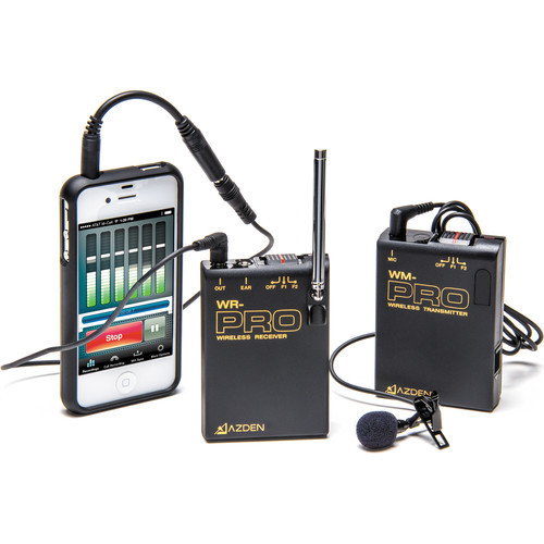 Azden WLX-PRO+i VHF Wireless Lavalier Mic System for Cameras and Mobile Devices