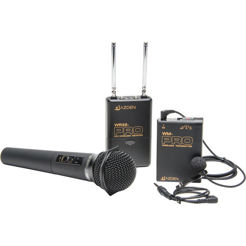 Azden Pro Series Dual-Channel VHF Wireless Kit (169.445 and 170.245 MHz)