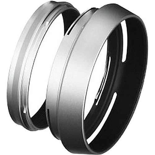 LH-X100 Lens Hood + Adapter Ring Silver