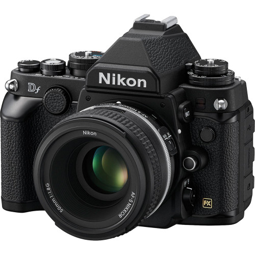 Pre-Owned - Nikon Df DSLR Camera with 50mm f/1.8 Lens (Black)
