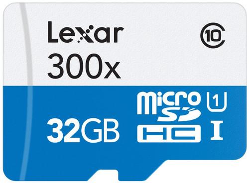 Lexar High-Performance microSDHC/microSDXC UHS-I U3 32GB Memory Card