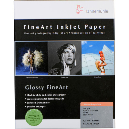"""Hahnemuhle FineArt Baryta Satin Paper (25 Sheets, 8.5 x 11"""", 300 gsm)"""