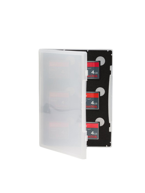 Gepe Card Safe Store - for Six CF Compact Flash Cards(Clear)