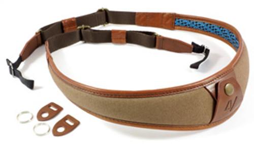 4V Design Large Neck Strap ALA - Univ. Fit Kit - Canvas, Tuscany Leather - brown/brown