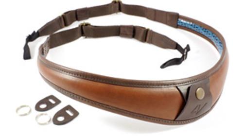 4V Design Large Neck Strap ALA TOP-Univ. FIT Kit Tuscany Leather Brown/Brown
