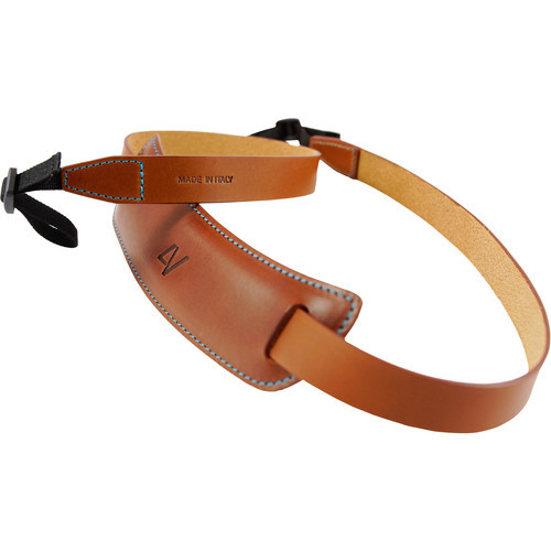 4V Design Large Neck Strap Classico Tuscany Leather Brown/Cyan