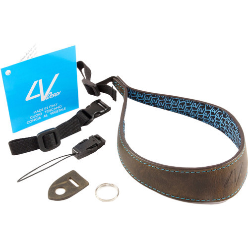 4V Design Large Wrist Strap Kit Ergo Washed Tuscany Leather Green/Cyan