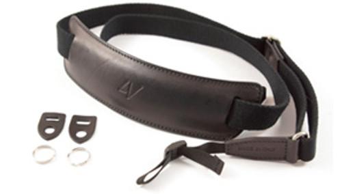 4V Design Large Neck Strap Kit Lusso Tuscany Leather Black/Black