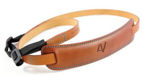4V Design Medium Neck Strap Kit Classico Tuscany Leather Brown/Cyan