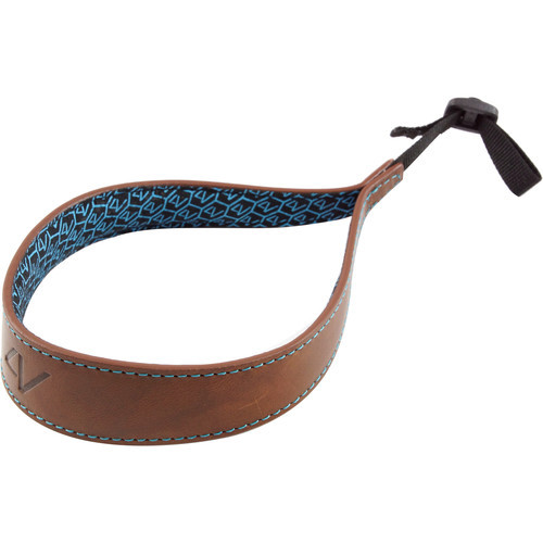 4V Design Large Wrist Strap Kit Ergo Tuscany Leather Brwon/Cyan
