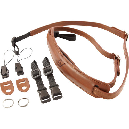4V Design Slim Neck Strap Kit Lusso Tuscany leather Brown/Brown