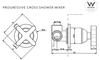 ABI Interiors ABI Cross Progressive Wall Mounted Set - Brushed Brass