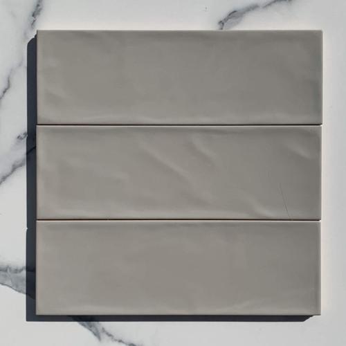 Mimicoco 100x300 Valonia Mid Grey Gloss Subway Tiles