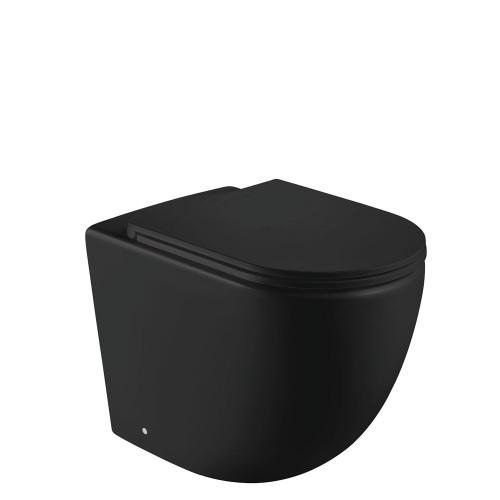 Fienza Fienza Koko Rimless Wall-Faced Toilet Suite Matte Black