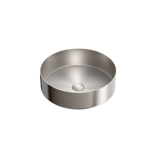 Nero Tapware Nero Opal 304 Round Stainless Steel Basin - Brushed Nickel
