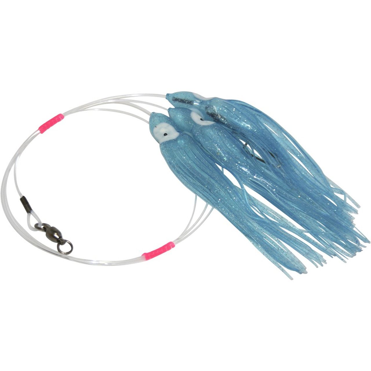 Ono Whaoo Sailfish Daisy Chain Leader Silver Sparkle Mahi Tuna Marlin
