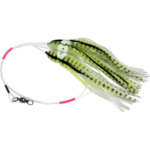 Daisy Chain Leader - Transluent Yellow and Clear with Black Stripes