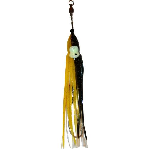 Squid Skirt Hoochie Lure - Black & Yellow