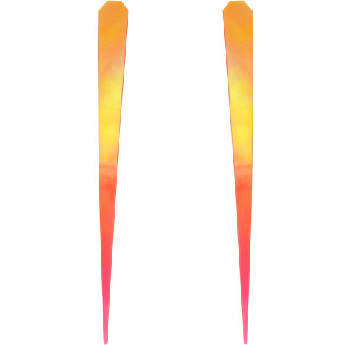 Maui Lure Wings pink, orange, yellow, and silver