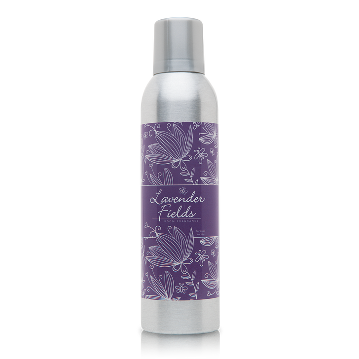 6 oz. Lavender Fields Room Fragrance with essential oils.