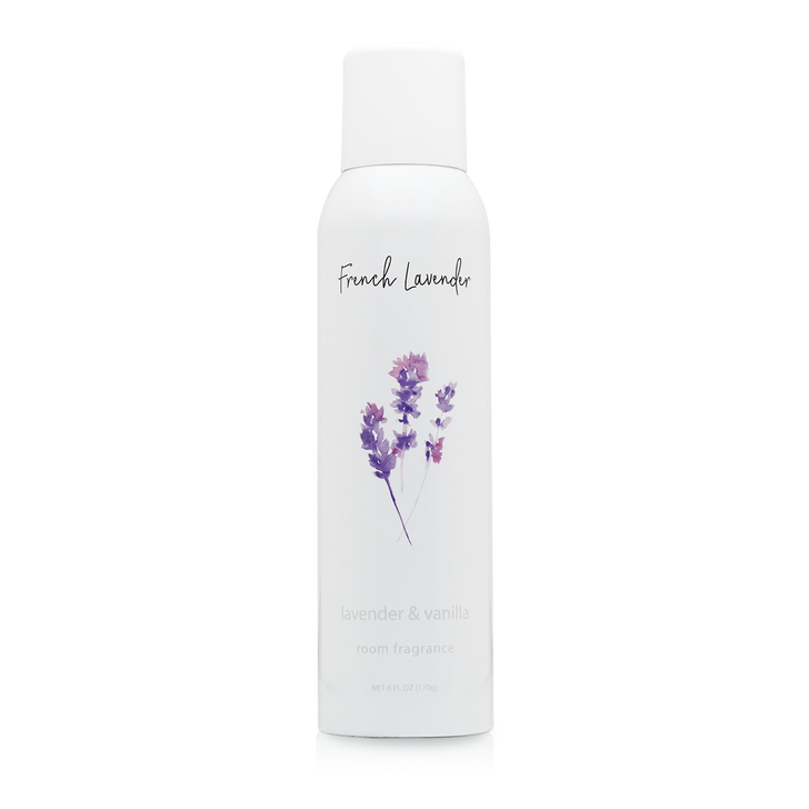 French  Lavender  Home Fragrance (wrap label) with essential oils.