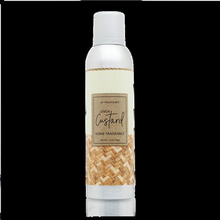 Lemon Custard Home Fragrance (Linen) with essential oils.