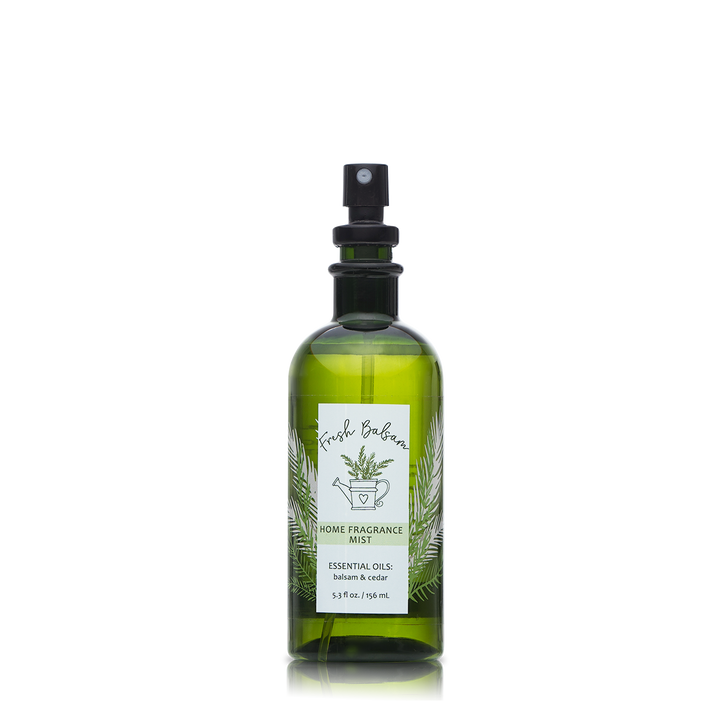 5.3 oz. Fresh Balsam Home Fragrance Mist with essential oils.