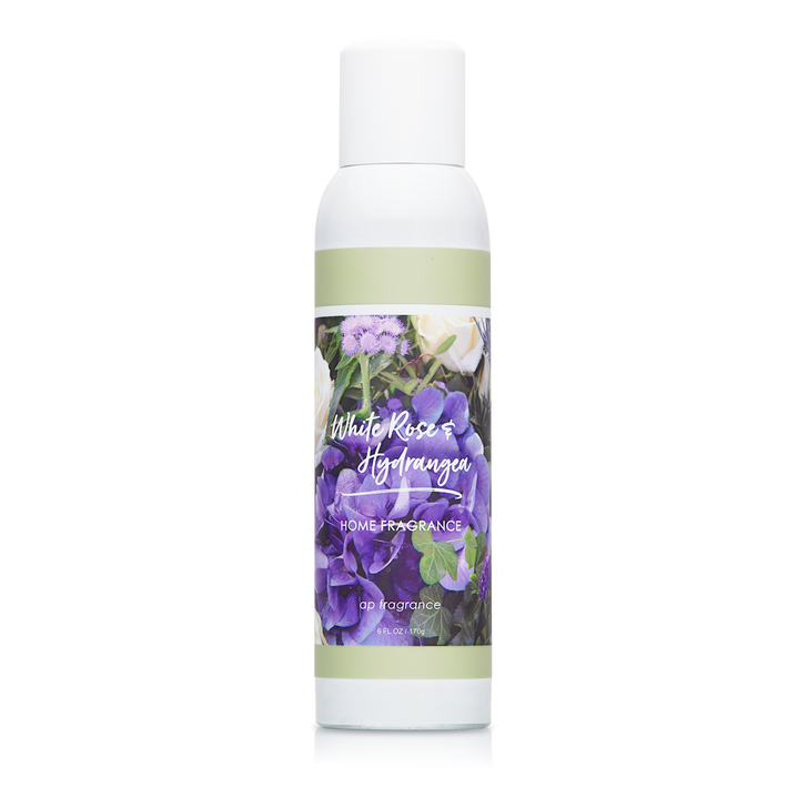 6 oz. White Rose & Hydrangea Home Fragrance with essential oils.
