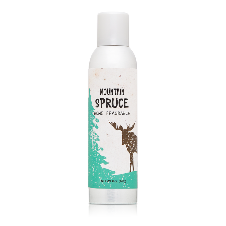 6 oz. Mountain Spruce Home Fragrance with essential oils.