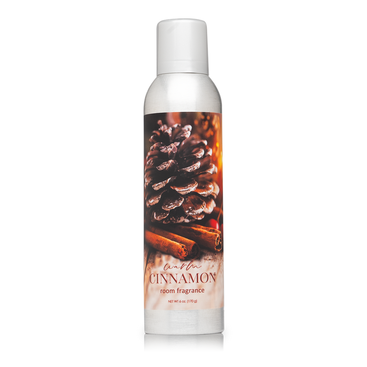 6 oz. Warm Cinnamon Home Fragrance, with essential oils.