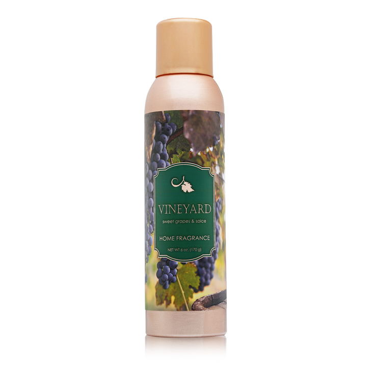 6 oz. Vineyard Home Fragrance with essential oils.