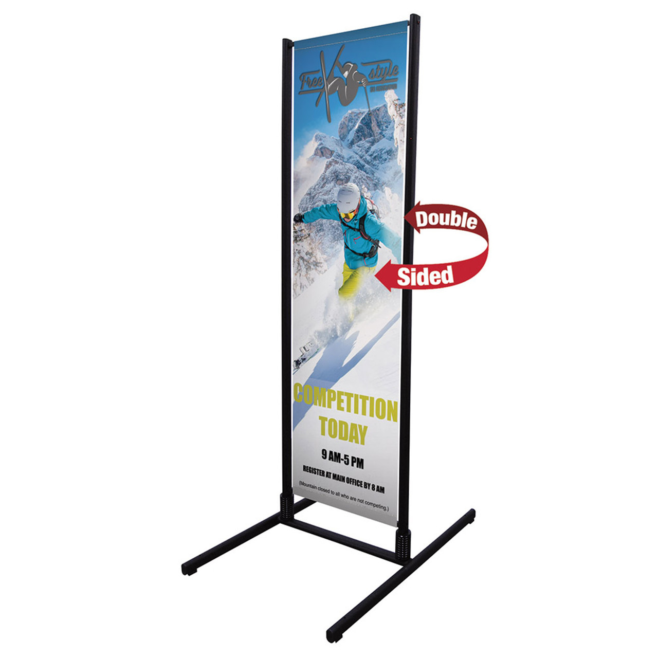 Open During Construction Stripes White Heavy-Duty Outdoor Vinyl Banner CGSignLab 12x4