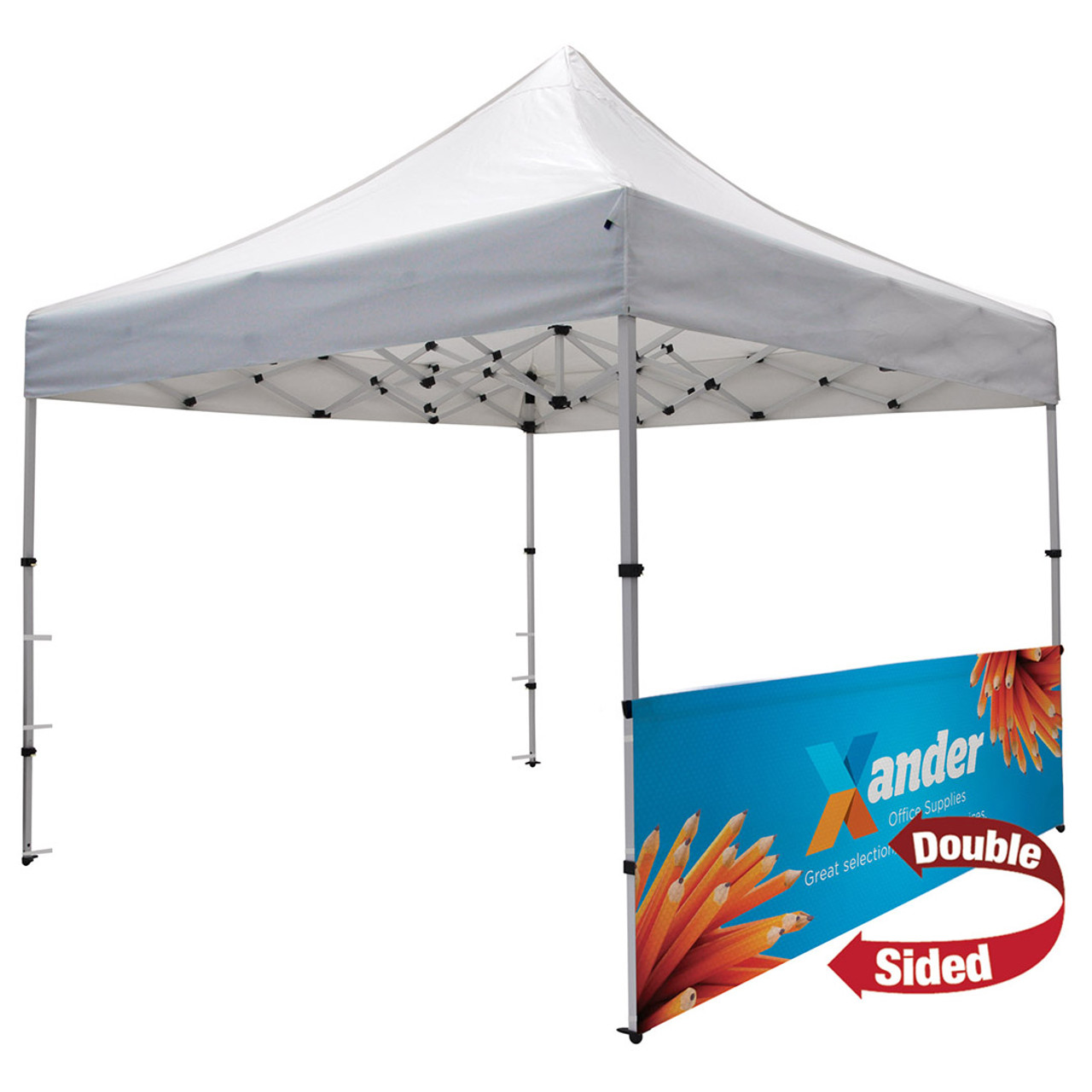 Compact 10' Tent Half Wall Kit (Dye-Sublimated, Double-Sided)