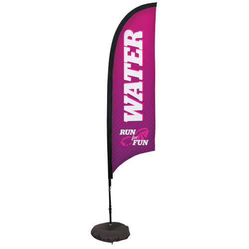 7' Premium Razor Sail Sign Kit (Single-Sided with Scissor Base)
