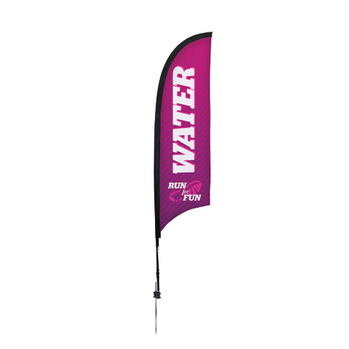 7' Premium Razor Sail Sign Kit (Single-Sided with Ground Spike)