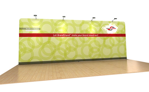 20ft WaveLine Straight Wall Fabric Display