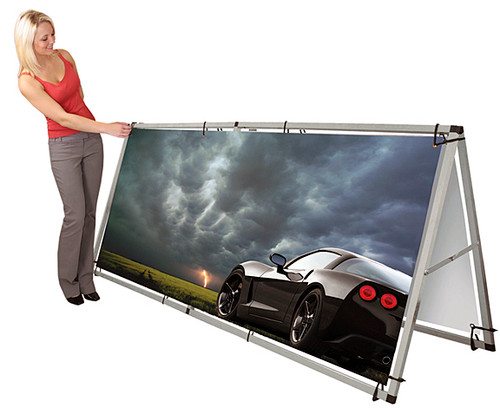 Portable Billboard Double-Sided Banner Stand