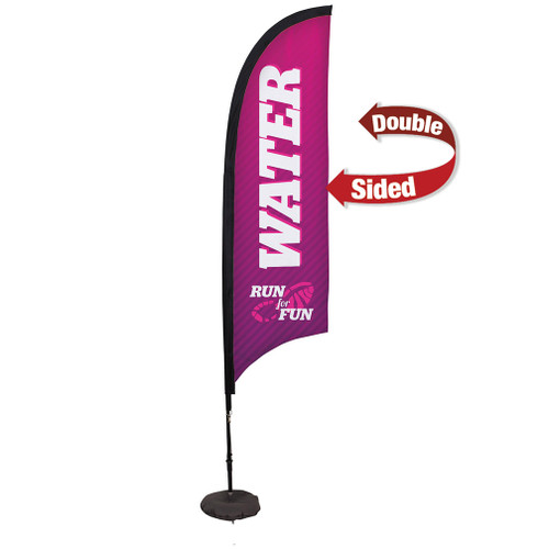 7' Premium Razor Sail Sign Kit (Double-Sided with Scissor Base)